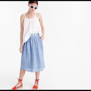 J.Crew chambray tie side skirt